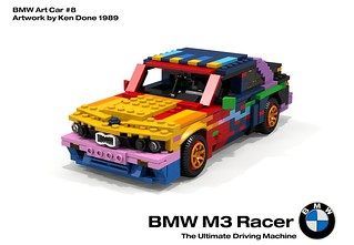 BMW M3 Racer - BMW Art Car #8, Ken Done - 1989