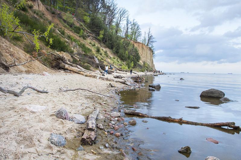 Beach & cliff in Orlowo - Plaża i klif w Orłowie