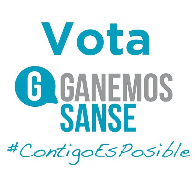 vota Ganemos Sanse la candidatura de unidad popular de San Sebastián de los Reyes