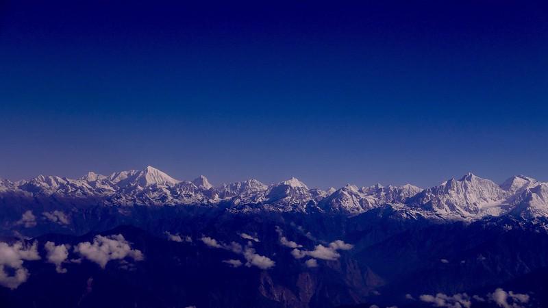 Himalayas de cima blanca