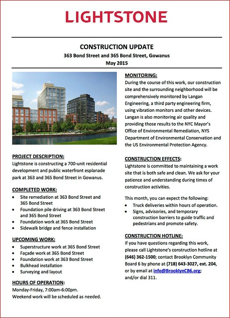 Lightstone Gowanus Construction Update - May 2015 copy copy
