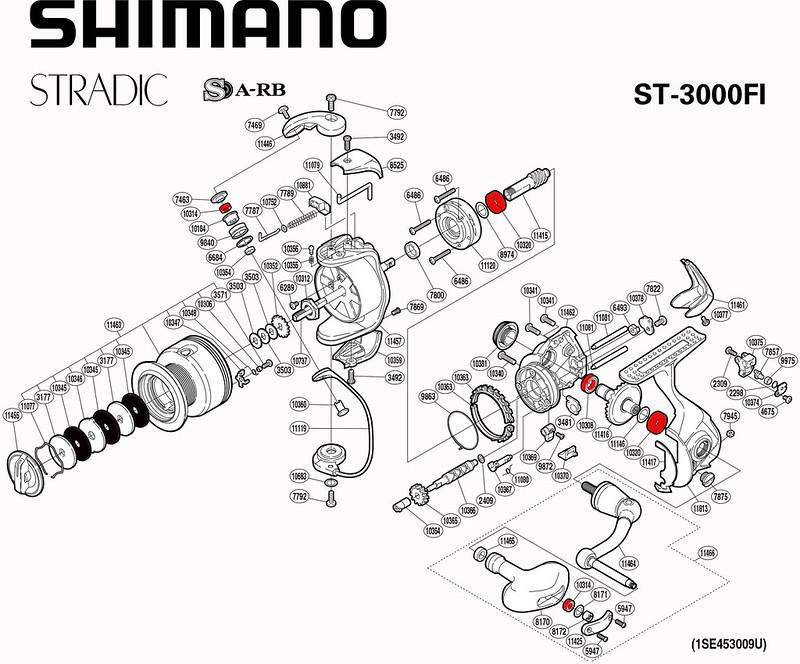 Schéma Shimano Stradic 3000FI