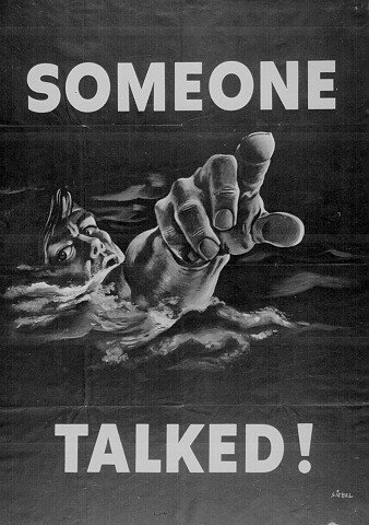 World War II Poster - Someone Talked!