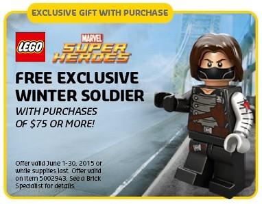 LEGO Shop Winter Solider Promotion