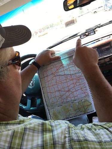 Navigating.