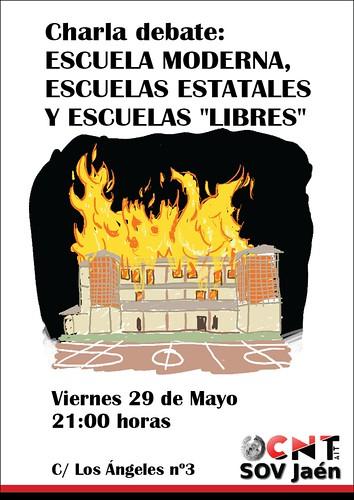 """Charla-debate: Escuela moderna, escuelas estatales y escuelas """"libres"""""""