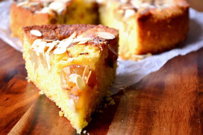 Almond-Pear Cake Recipe — Dishmaps