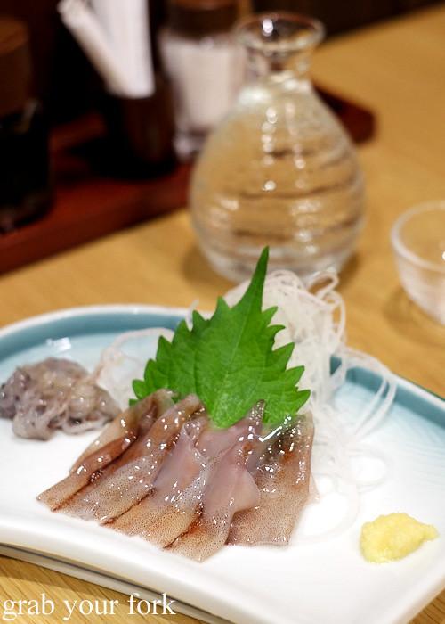 Firefly squid sashimi in Toyama, Japan