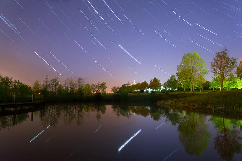 Parc Lentz at night