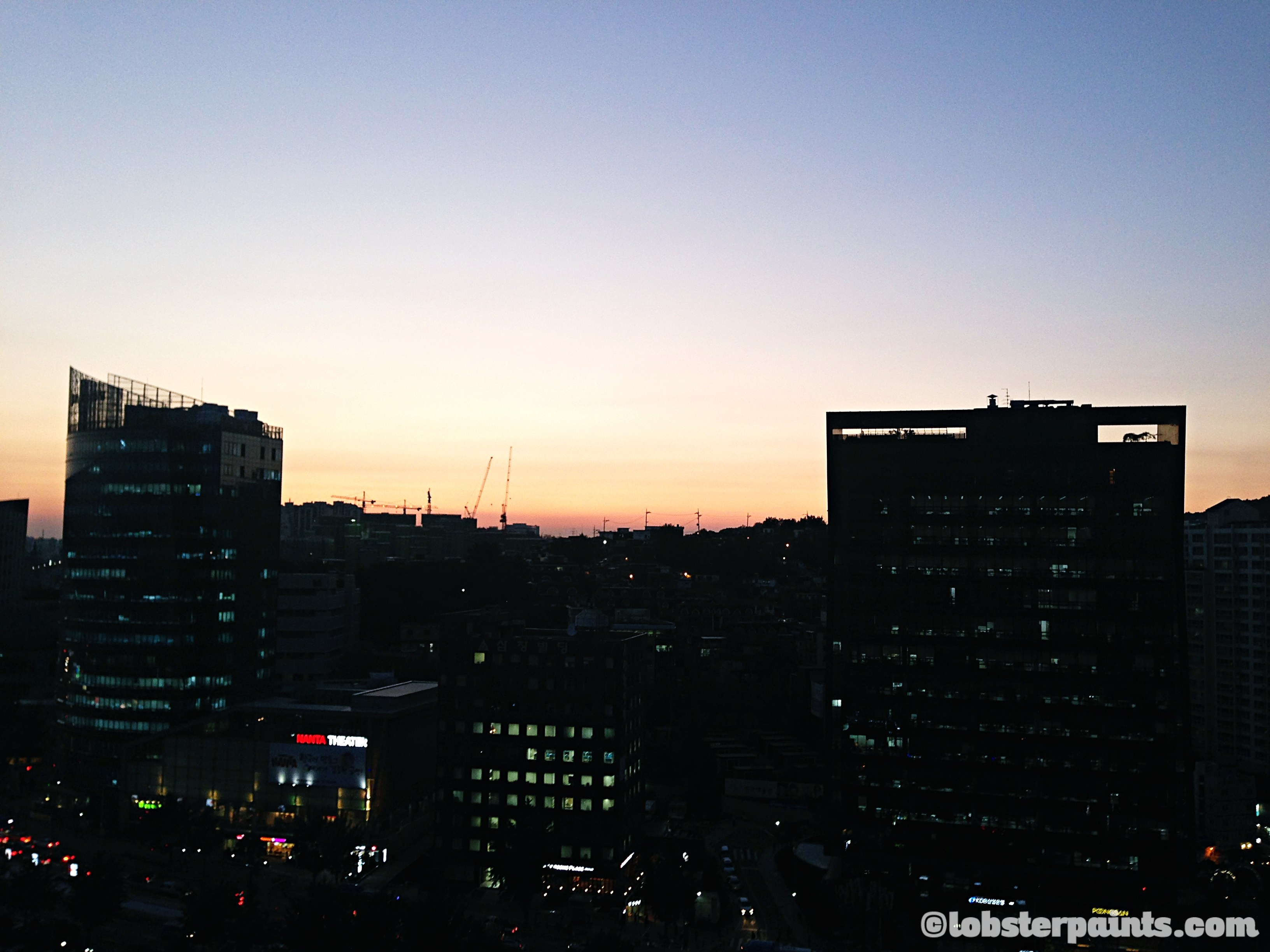 Sunset over Chungjeongno | Seoul, South Korea