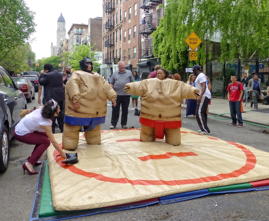 Sumo wrestling in the East Village