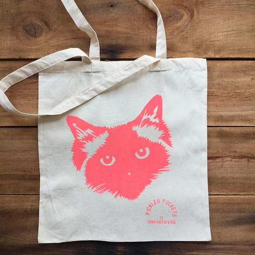 Pickled Pockets Screenprinted Totes