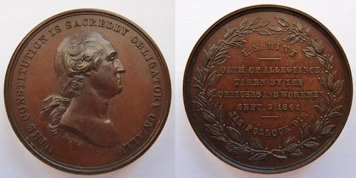 1861 Mint Allegiance Medal