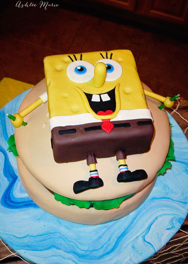 SpongeBob And Krusty Burger Birthday Cake