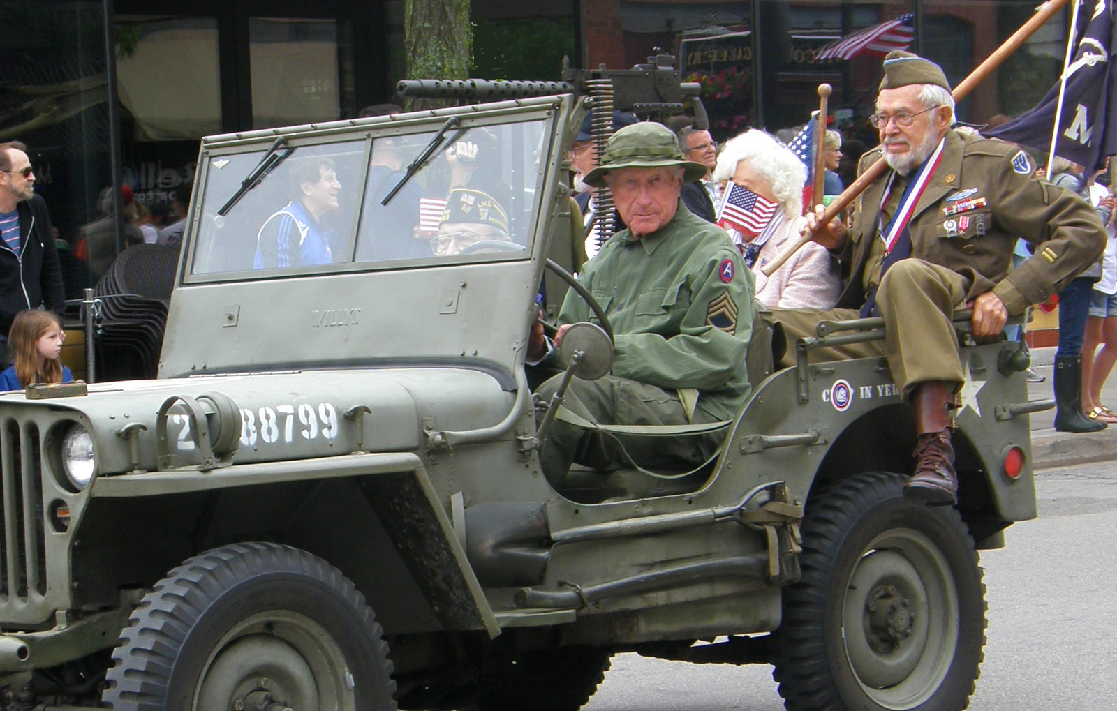 An old Sareant driving