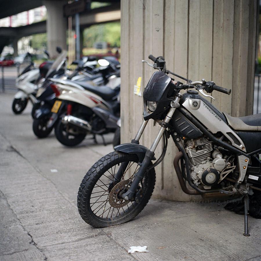 motor bikes in the city