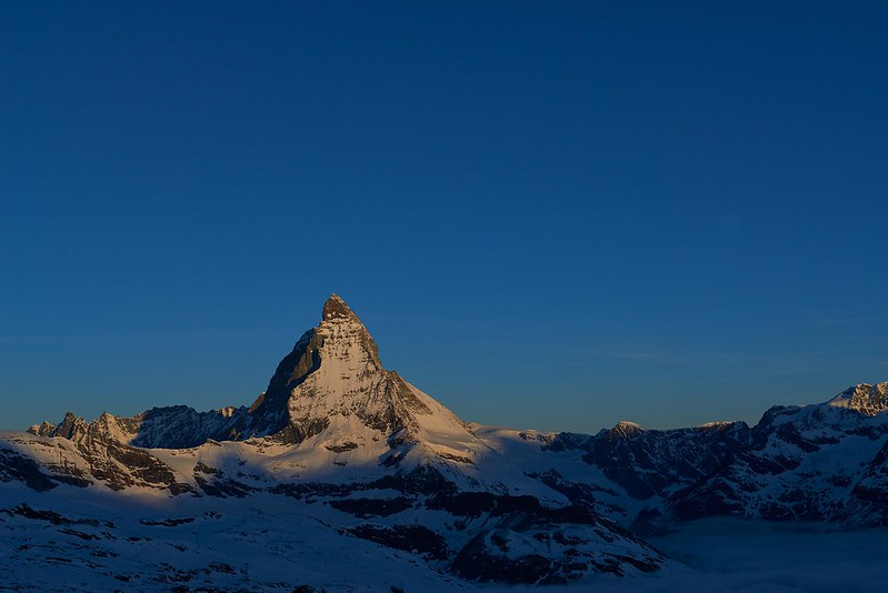 A new day at the Matterhorn - Zermatt