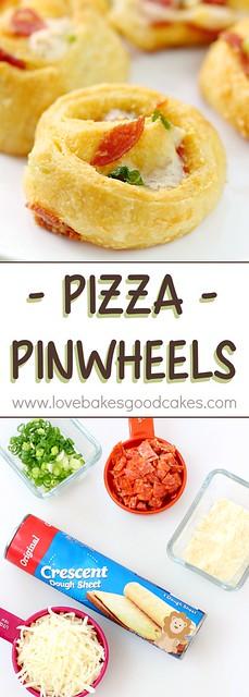 Pizza Pinwheels collage.