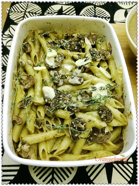 150512 蘑菇濃湯與烤義大利麵-02