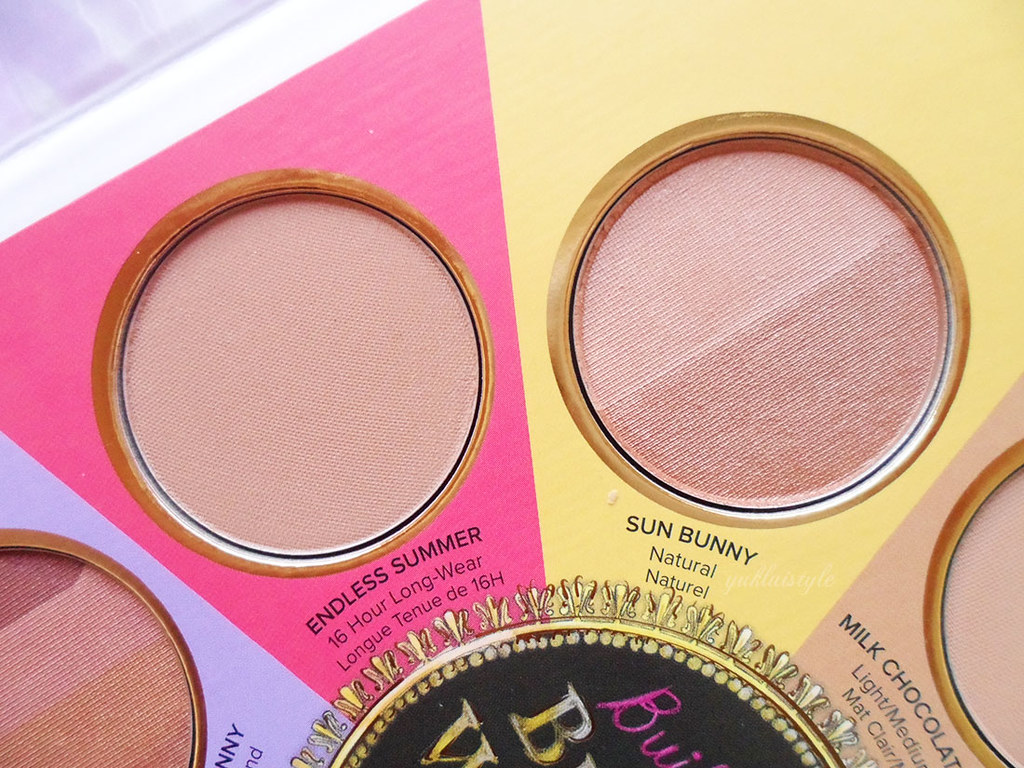 Too Faced The Little Black Book of Bronzers review endless summer sun bunny