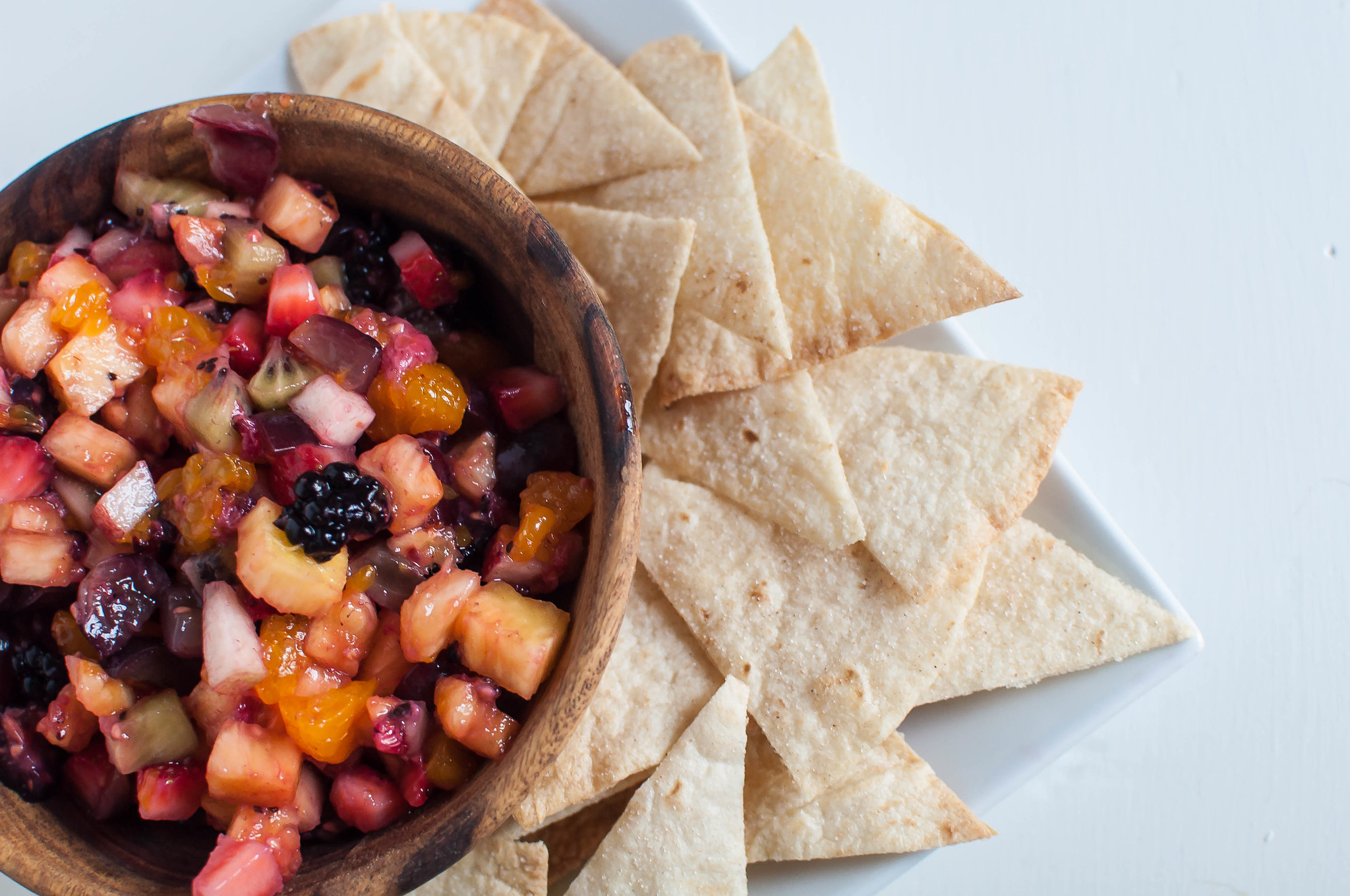 Fruit Salsa with Cinnamon Chips 1
