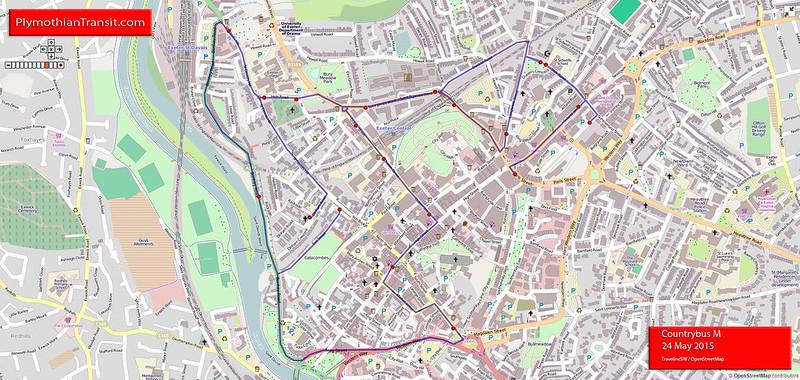 M: Exeter > Mount Dinham Circular
