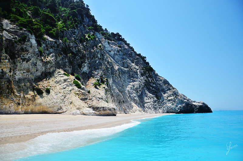 Egkremnoi Beach, Lefkada, Greece