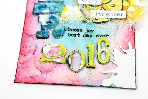 Meihsia liu simply paper crafts mixd media tag smmer tim holtz Simon Says stamp Monday challenge 7