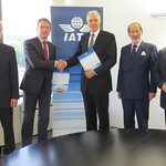 The signing of a memorandum of understanding between IATA and the UNECE (United Nations Economic Commission for Europe) to promote implementation of the WTO Trade Facilitation Agreement, in Geneva on 12 May 2015