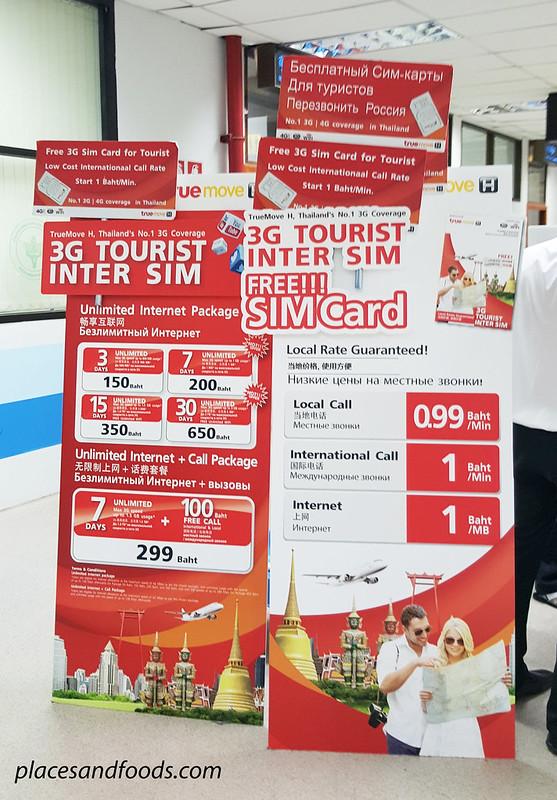 phuket free sim card counter