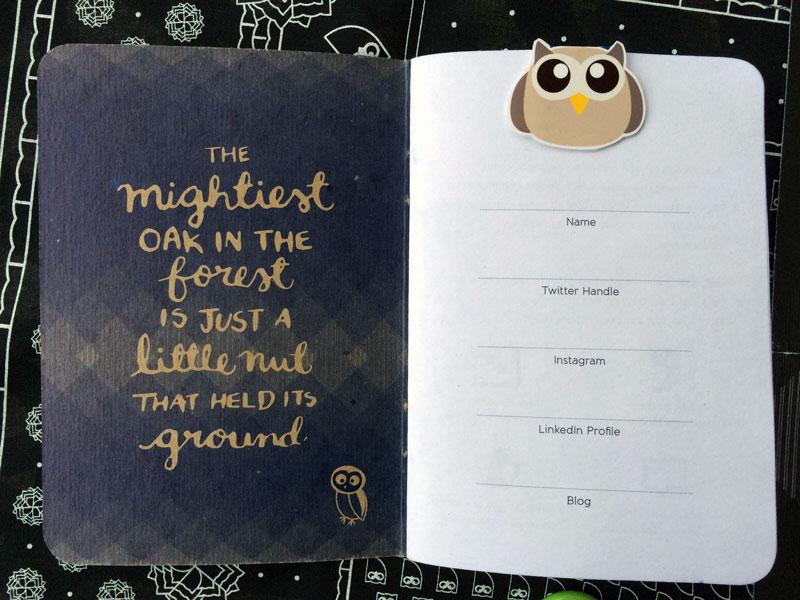 Hootsuite Ambassador #HootAmb Kit Notebook