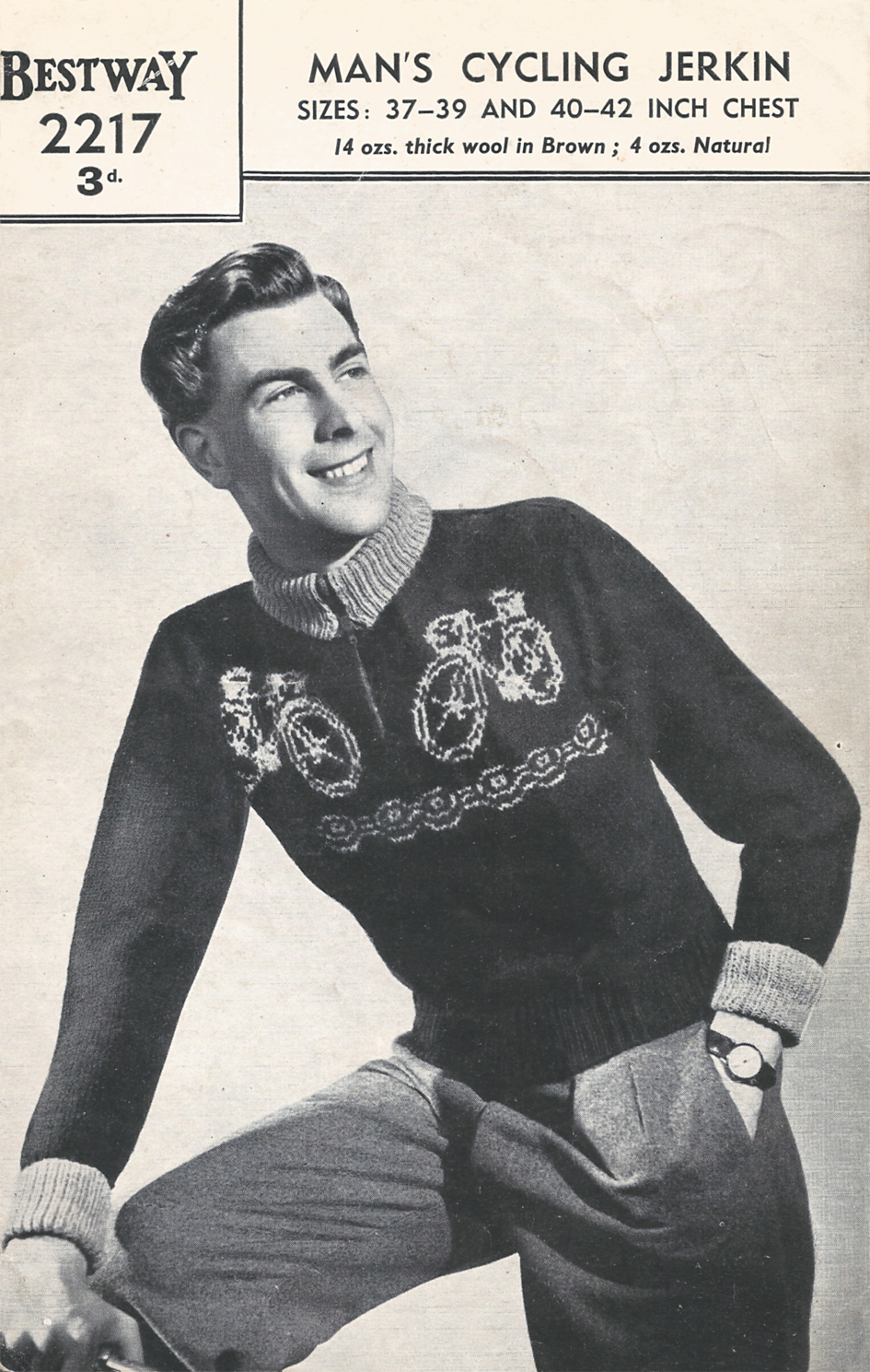 1940s Man's Cycling Sweater
