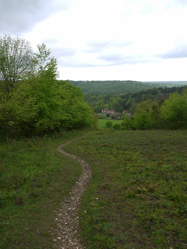 Downhill to Juniper Hall