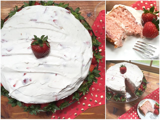 Mrs. Fields Secrets Strawberry Cake