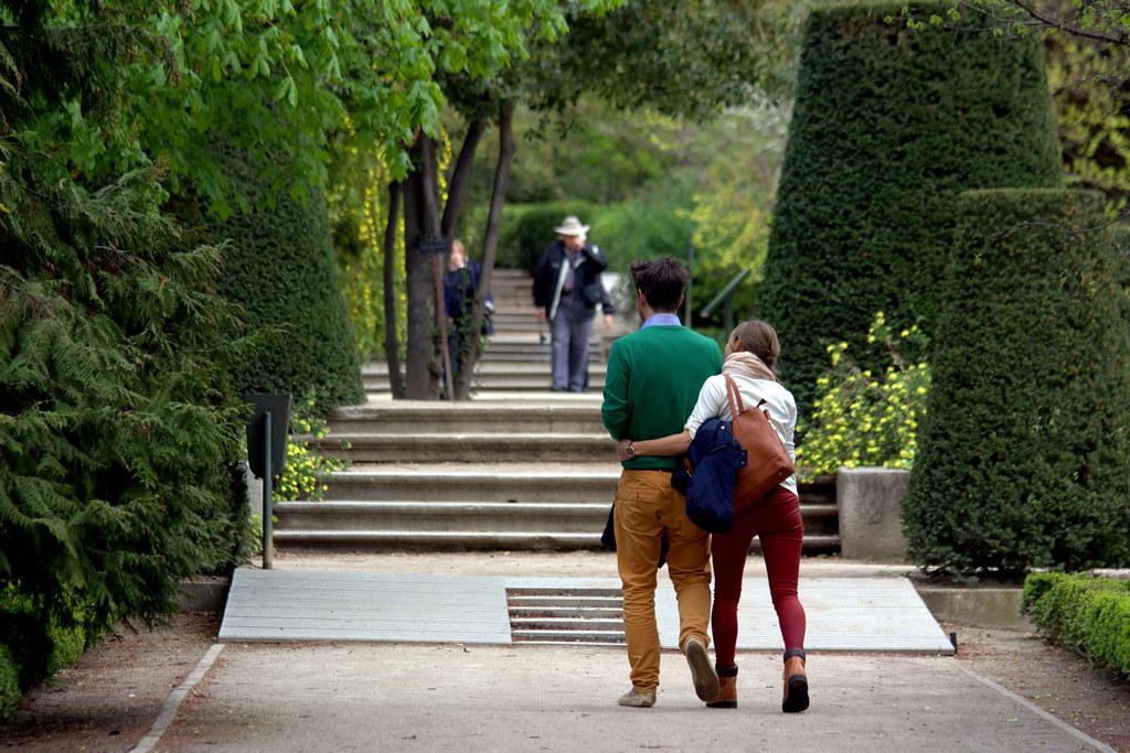 Por los paseos del jardín botánico