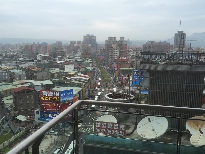 ホテル部屋からの景色