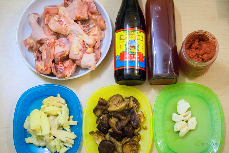 Fuzhou Red Wine Chicken - ingredients