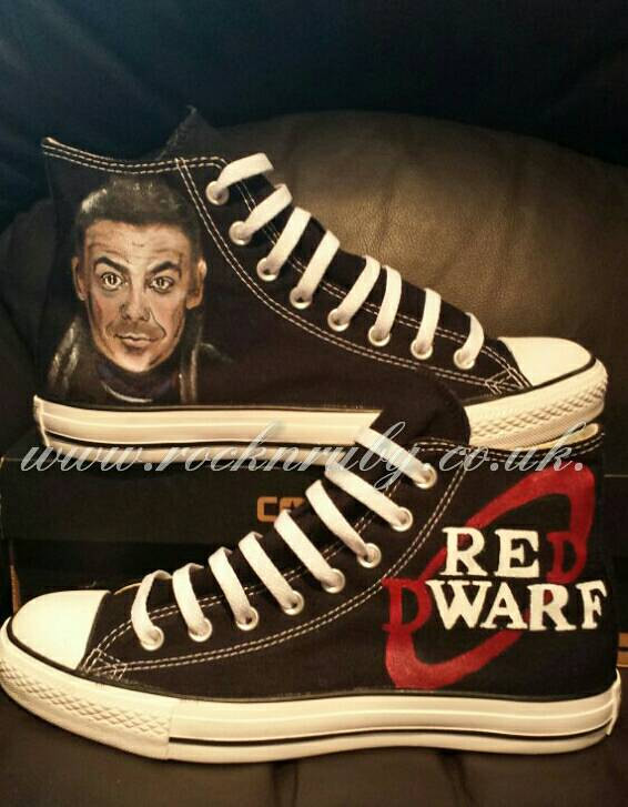 Rock N Ruby Custom Red Dwarf Converse