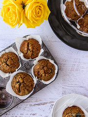 Wholewheat Pear & Blueberry Muffins