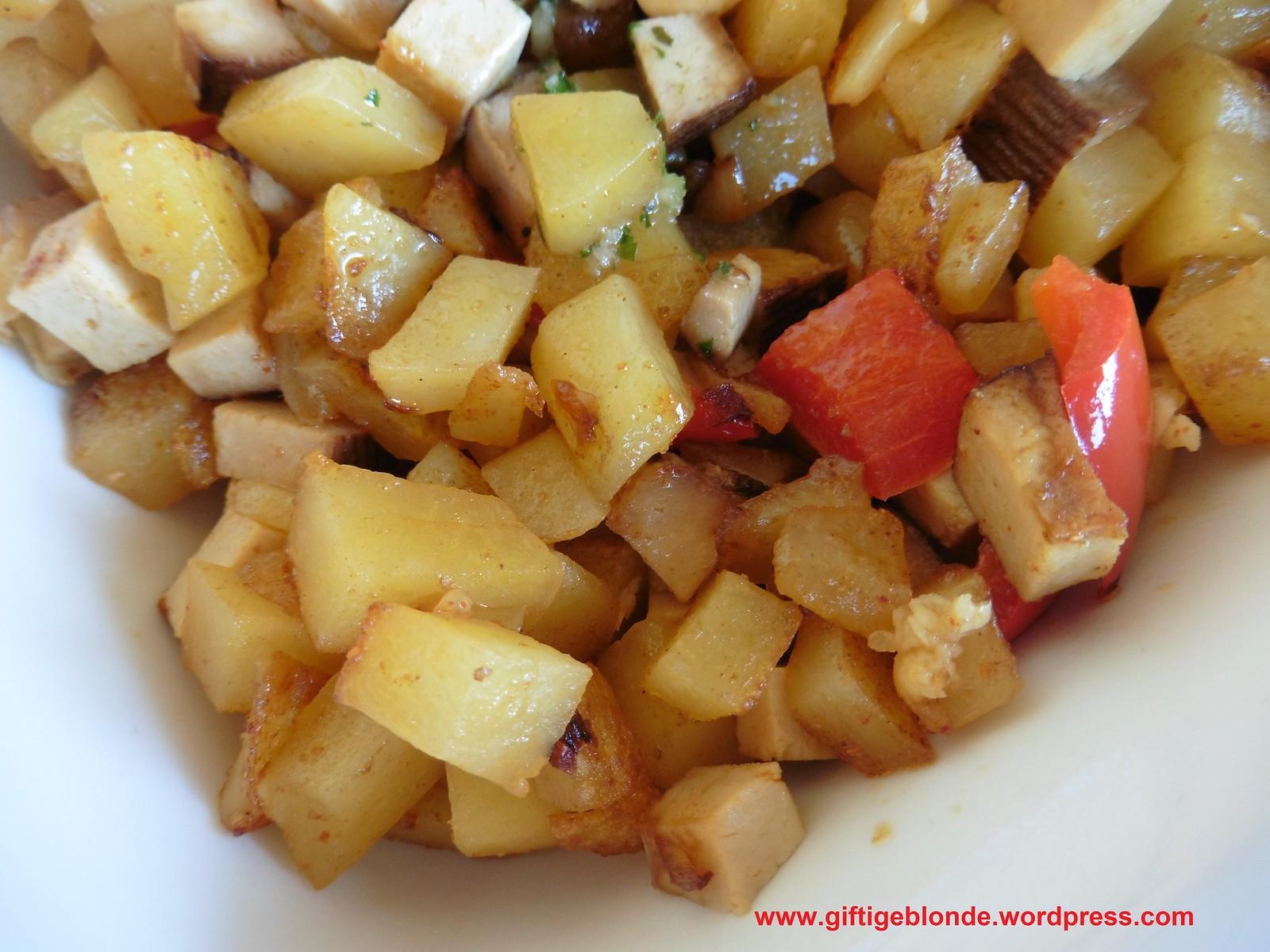 Bratkartoffel Räuchertofu Paprika Pfanne