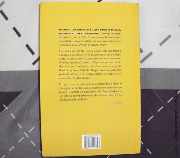 Contrcapa livro Rio Negro, 50, Nei Lopes