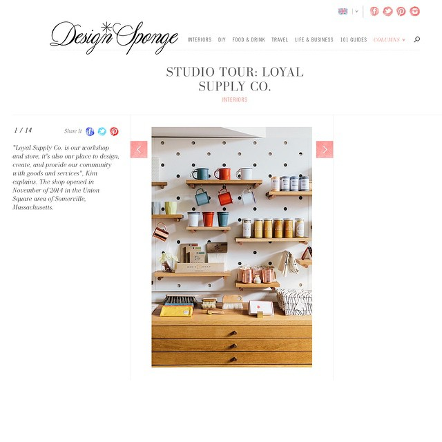 So excited to have Loyal featured on @DesignSponge today. Thank you @joyellewest for the beautiful photos of our store and @thegunrue for helping us tell our story.
