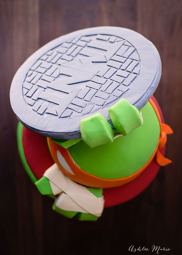 fondant Teenage Mutant ninja turtle birthday cake