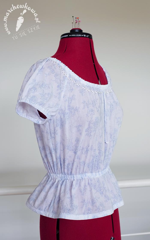 40s gipsy/peasant blouse, szycie, krawiectwo, sewing, DIY, blog, bluzka, chłopka, batyst, bawełna, wykrój, Burda, retro, vintage, 40s, 50s, 60s, pattern