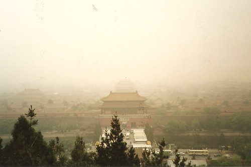 View of Forbidden City form from Jingshan  Park - May 1991 - Beijing, China