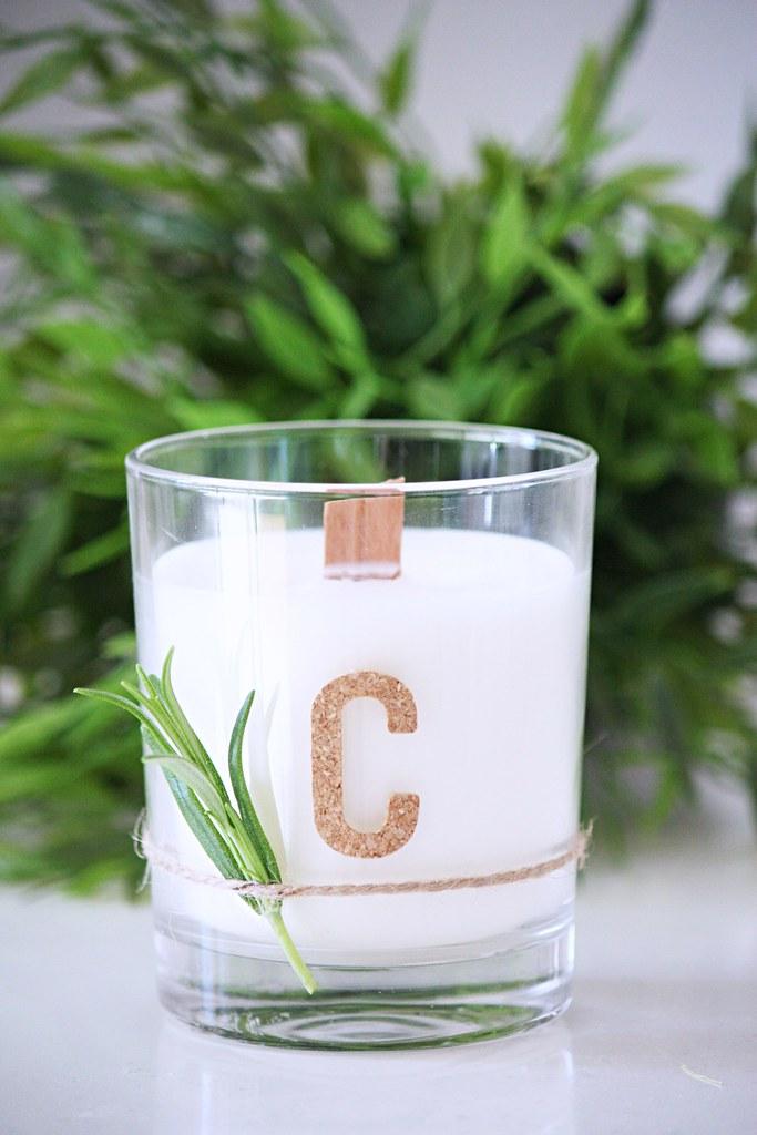 Itse tehty Citronella-kynttilä