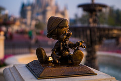 Pinocchio statue in the new hub