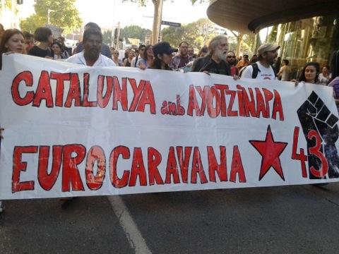 Catalunya amb #ayotzinapa a manifestació a Barcelona