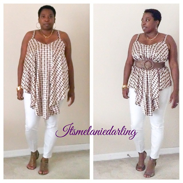 Summer Time Fun!  Chain link layered tank top!  Details on the blog, blog address in profile  #Itsmelaniedarling #sewologist #seamstress #sewing #sewist #sewcialist #sewingblogger #asewinglife #imakemyownclothes #imadethis #diy #diyer #diystyle #diyfashio