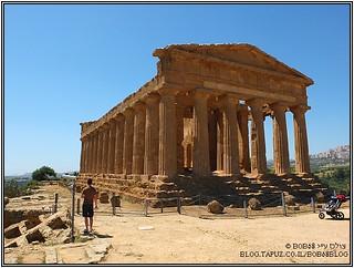 הקונקורדיה בעמק המקדשים אחד מה-אתרים בסיציליה
